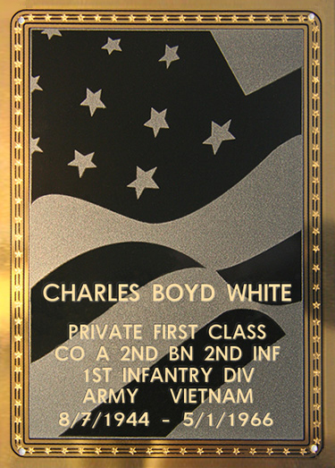 Charles B. White Plaque