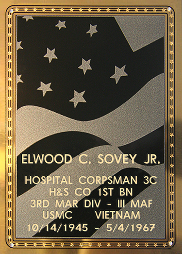 Elwood C. Sovey Jr. Plaque