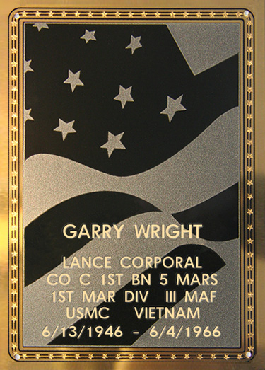 Garry Wright Plaque