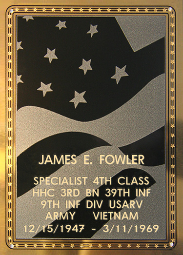 James E. Fowler Plaque