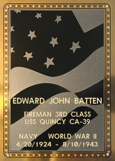 Edward J. Batten Plaque